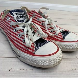 Converse Chuck Taylor's with American Flag 🇺🇸